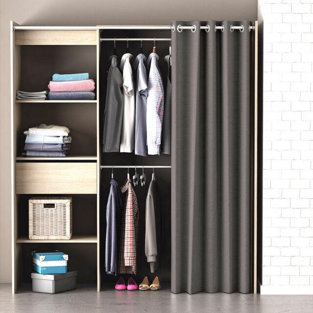Regalsystem kleiderschrank mit vorhang  Kleiderschrank Chicago Garderobe Regal Schrank Sonoma eiche mit ...