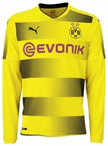 new styles 641bb c1fbf Details about Puma Borussia Dortmund BVB Mens Football Long Sleeve Home  Jersey Shirt 2017 2018