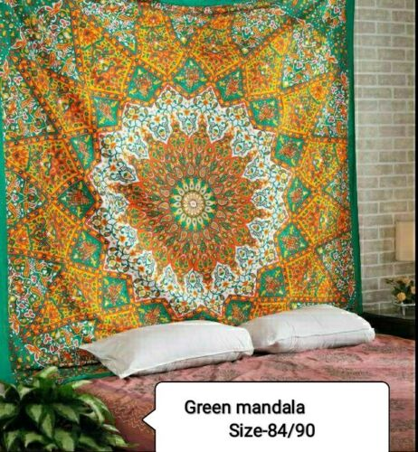 Hippie Gypsy Bohemian Psychedelic Indian Cotton Mandala Wall Hanging Tapestry
