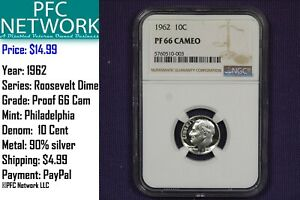 1962-Proof-PR-PF-66-Cameo-Roosevelt-Silver-Dime-NGC