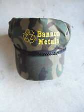 Bannon Metal Adjustable Baseball Hat