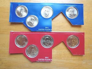 2015 P /& D Presidential Dollar 8 Coin Set Lot Sealed Uncirculated Mint Cello