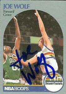 Joe Wolf autographed Basketball card (Denver Nuggets) 1990 Hoops #412