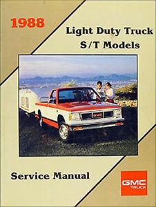 1988 gmc s15 shop manual 88 pickup truck and s 15 jimmy original rh ebay com Chevy Colorado Repair Manual 1987 GMC Sierra Grande 2500