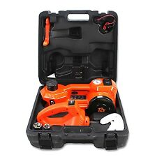 12V DC 1 Ton Electric Hydraulic Floor Jack Set with Impact Wrench For Car Use...