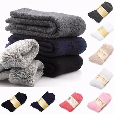 Mens Women Thicken Thermal Wool Cashmere Casual Sports Winter Hiking Warm Socks