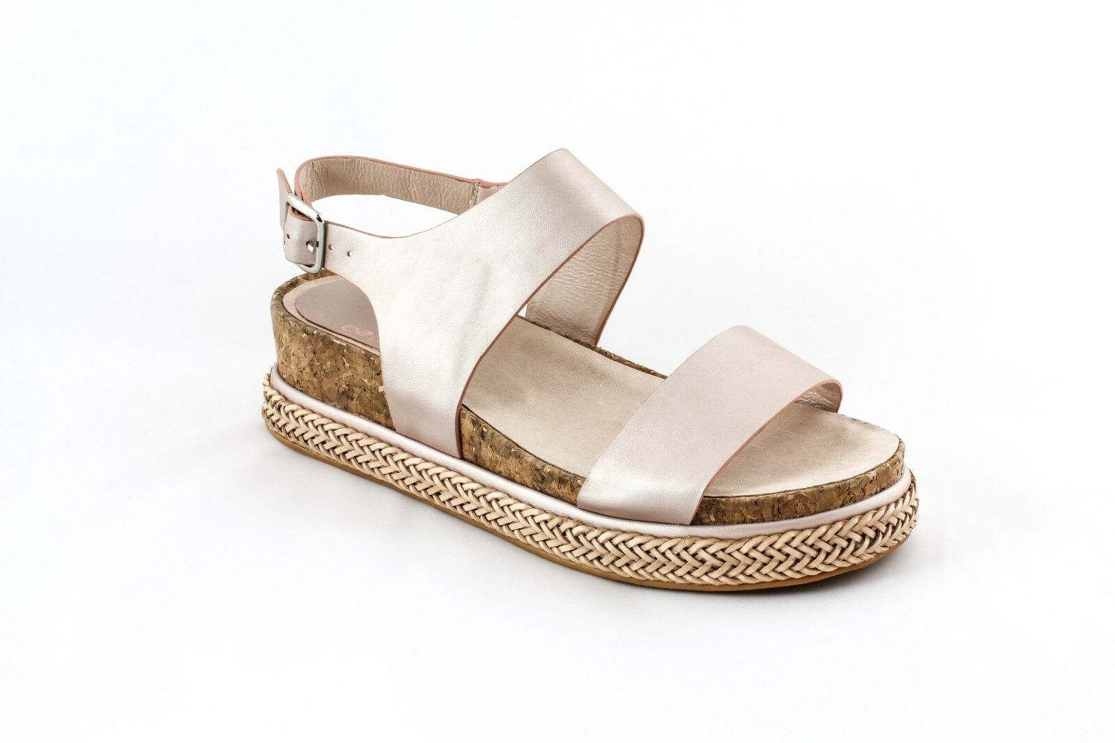 BNWL Betsy Metallic pink gold Open Toe Sandal with Adjustable Ankle Strap