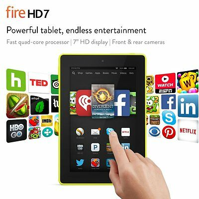 """Fire Hd 7 Tablet, 7"""" Hd Display, Wi-fi, 8 Gb - Includes Special Offers, Citron"""