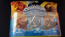 Skylanders spyro's Adventure 3er-set (eruptor, Chop Chop, Bash) - nuevo & OVP