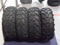 98-2002 Suzuki Quadrunner 500 Bear Claw 25 Atv Tires (set 4) 25x8-12 25x10-12