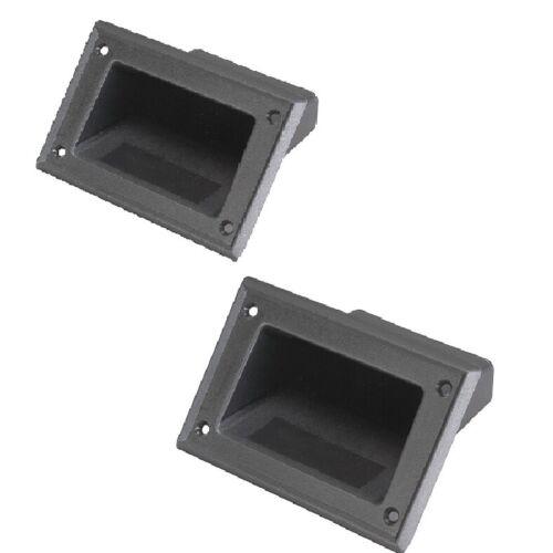 Pair Black Plastic Pocket Handles For Speaker Cabinets