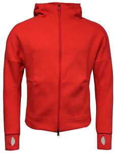 Detalles de Zip chaqueta con capucha para mujer Adidas ZNE Fitness Deporte Sudadera Rojo AZ0199 CC79 ver título original