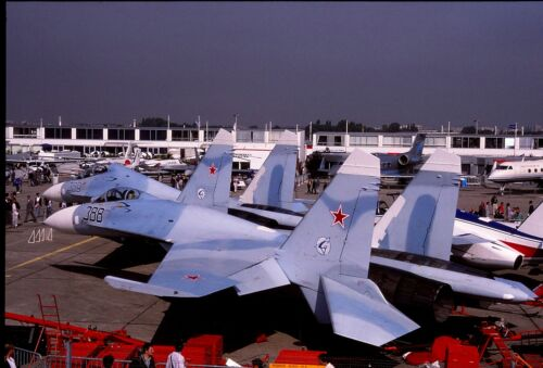 Original colour slide Su-27 Flanker /'388/' of Russian Air Force