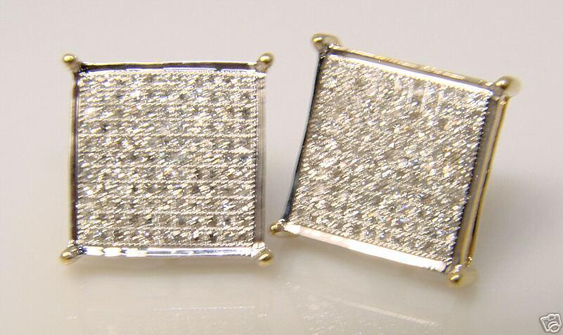 Mens Ladies Stud Diamond Earring 14Mm 4 Prong 2.50 Ctw
