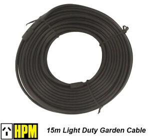 Details About 15 Metres Low Voltage Garden Lighting Cable For Hpm Deck Lights Haloscape