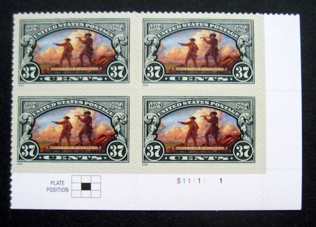 Sc # 3854 ~ Plate Block ~ 37 ct Lewis & Clark Bicentennial Issue (bg23)