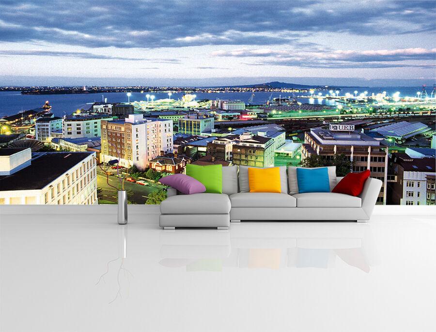 3D Vivace città 2 Parete Murale Foto Carta da parati immagine sfondo muro stampa