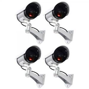 4-TELECAMERE-LAMPEGGIANTE-VIDEOSORVEGLIANZA-CAMERA-FINTA-DOME-DUMMY-CON-LED-IR