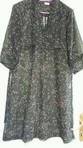 damen tunika kleid bluse durchsichtig schwarz esprit gr 34 ebay. Black Bedroom Furniture Sets. Home Design Ideas