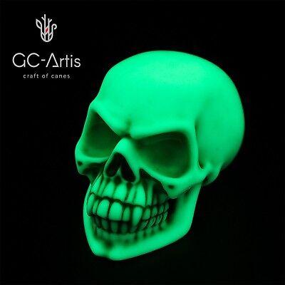 GLOWING Vampire Skull Head Ivory Color Decorative Art Stone Sculpture 3x4x4