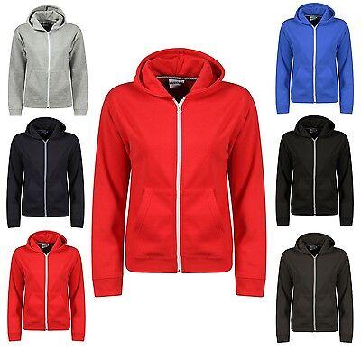 Boys Hoody Sweatshirt Plain American Hooded Fleece Zip Up Jacket Zipper Top Hood