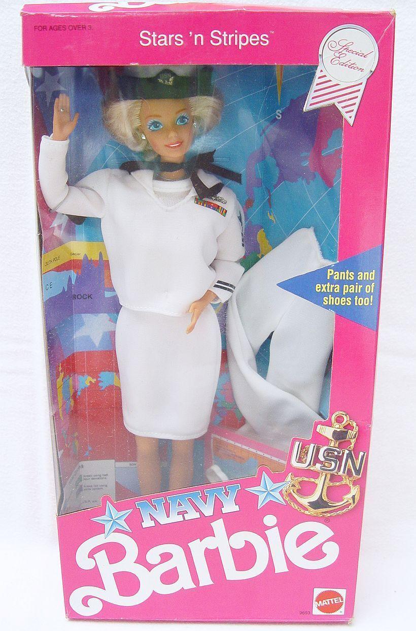 Mattel USA 12  BARBIE STARS `N STRIPES NAVY US Army Doll BARBIE Doll Figure MISB
