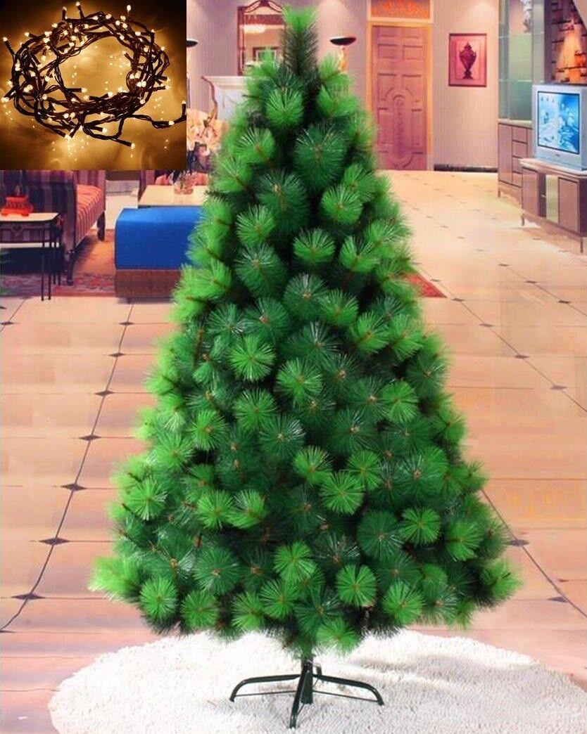Arbol de navidad 2,10m metros 210 cm Pino verde + LUZ LED...