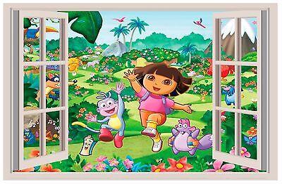 Dora the Explorer 3D WALL STICKER BEDROOM decor ART KIDS DECAL Window View