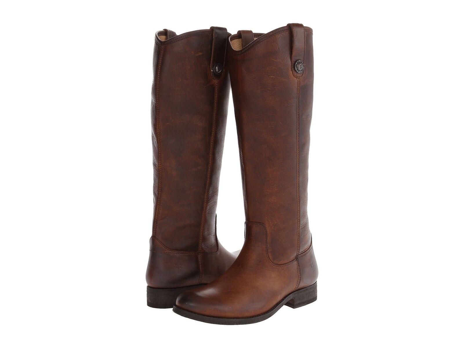 Spedizione gratuita per tutti gli ordini Donna  Frye stivali stivali stivali Melissa Button Dark Marrone Washed Leather 77172 DBN  vendita scontata