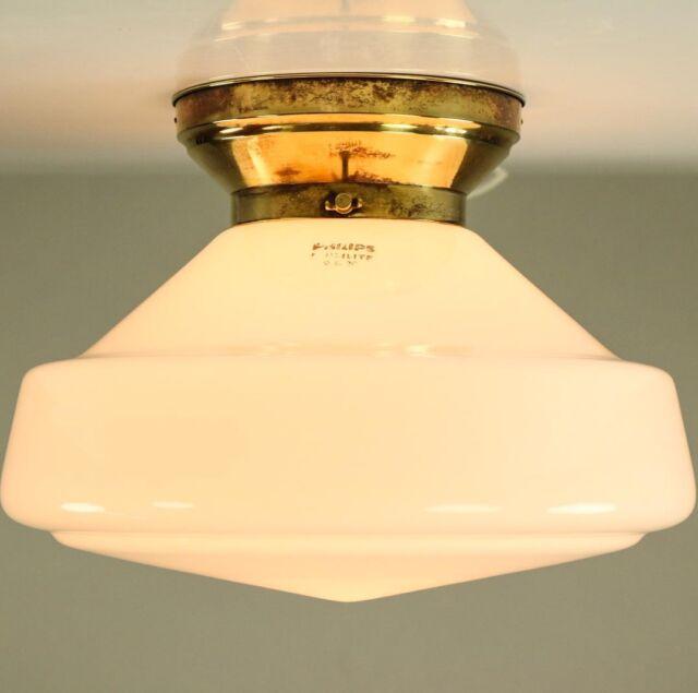Historische Decken Leuchte Philips Philite Art Deco Lampe Vintage Lamp 1930's