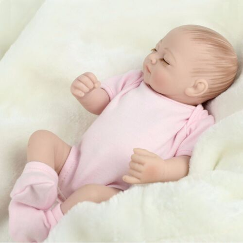 11/'/' Baby Doll Silicone Vinyl Reborn Toddler Dolls Real Handmade Lifelike  USA