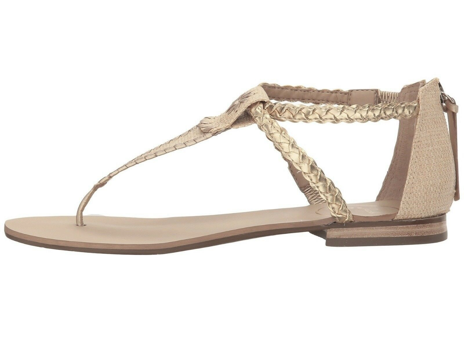 Jack Rogers Jenna Sandal Donna    Leather Natural oro Dimensione US 9.5 0050e0