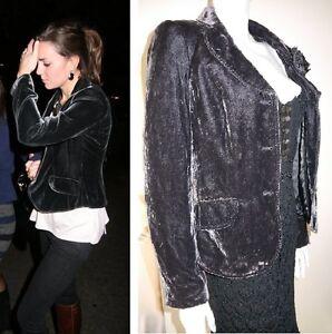 Wright Grey Black Jacket Charcoal Vintage Fenn Manson Blazer Velvet Rare qXxv7YBE