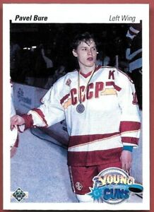 PAVEL-BURE-1990-UPPER-DECK-HOCKEY-YOUNG-GUNS-ROOKIE-CARD-526-TOP-ROOKIE