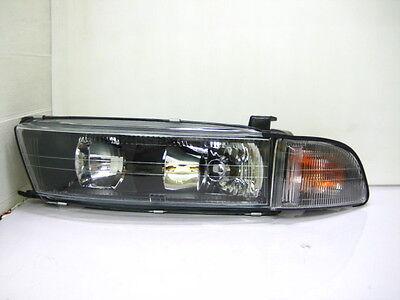 GALANT 1998-2005 98-05 Glass Headlight Black JPstyle Mitsubishi