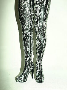 Details zu latex 30cm Overknee Stiefel 37 38 39 40 41 42 43 44 45 46 47 Bolingier POLAND