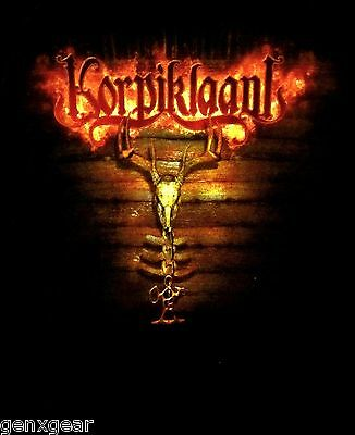 KORPIKLAANI cd lgo PAGANFEST TOUR 2009 Official Babydoll SHIRT LAST LRG new