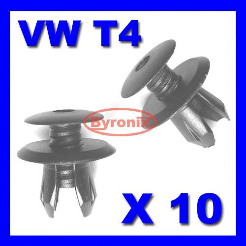 VW T4 T5 TRANSPORTER INTERIOR TRIM PANEL CLIPS BLACK