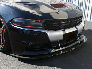 2015 2016 2017 2018 dodge charger rt sxt se carbon fiber splitter w rods ebay. Black Bedroom Furniture Sets. Home Design Ideas