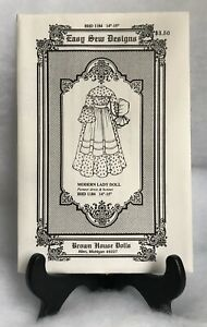 "Brown House Doll Easy Sew Designs BHD1184 Pioneer Dress /& Bonnet 14""-15"" Pattern"