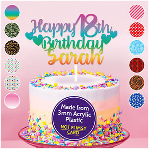 Personnalise-13th-16th-18th-21st-30th-Birthday-Cake-Topper-Decoration-Tout-Age