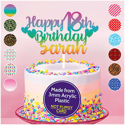 Admirable Personalised 13Th 16Th 18Th 21St 30Th Birthday Cake Topper Personalised Birthday Cards Veneteletsinfo