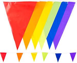 33-Feet-10m-Bunting-Multi-Colours-20-Flags-Festival-Garden-Outdoor-Wedding-UK