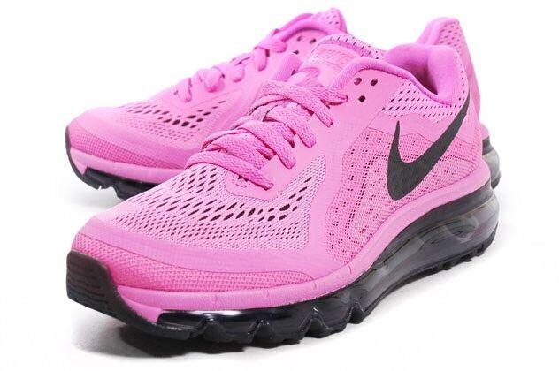 GG Nuevo Nuevo Nuevo Y En Caja Nuevo Para Mujer Nike Air Max 2014 rosado Negro Rojo púrpuraa UK 7 7.5 Raro 90  tienda de ventas outlet