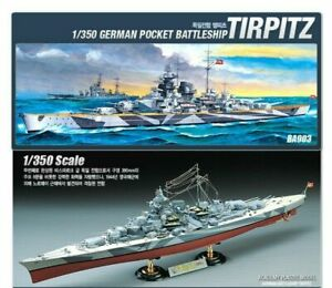 Academy-14111-1-350-Scale-German-Pocket-Battleship-Tirpitz-Plastic-Model-NUe