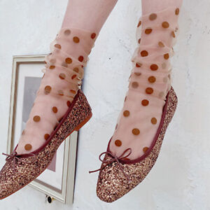 Women-Ruffle-Fishnet-Transparent-Socks-Summer-Dot-Mesh-Lace-Fish-Net-Short-Socks