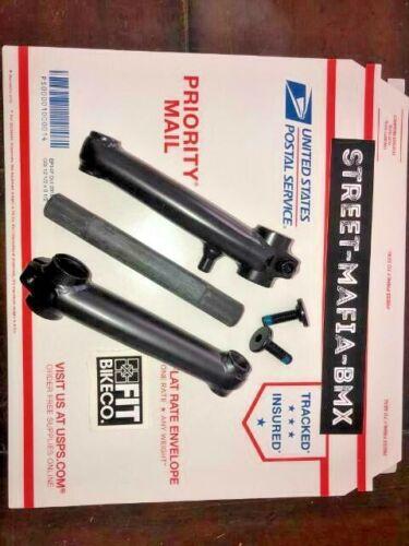 FIT BMX BIKE 3 piece Crank 127mm 19mm 8 spline spindle Fit SM kids DK Haro NEW