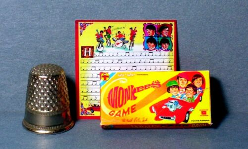 Dollhouse Miniature 1:12  The Monkees Game  1960s dollhouse rock music teen game