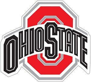 Ohio State Buckeyes NCAA Color Die Cut Vinyl Decal / Sticker
