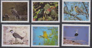 BIRD280-JORDAN-1987-WILDLIFE-FAUNA-BIRDS-VOGEL-OISEAUX-COMPL-SET-MNH